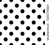 Stock vector black and white seamless polka dot pattern vector 520270864