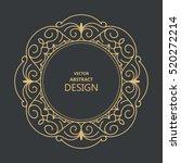 monogram line vintage frame.... | Shutterstock .eps vector #520272214