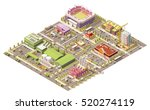 vector isometric low poly city | Shutterstock .eps vector #520274119