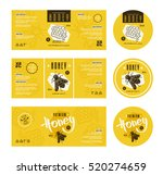 set of templates label for... | Shutterstock .eps vector #520274659