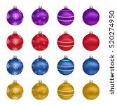 christmas balls. set of... | Shutterstock .eps vector #520274950