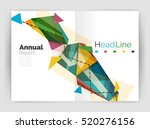 geometric annual report... | Shutterstock . vector #520276156