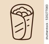 burrito wrap minimalistic flat... | Shutterstock .eps vector #520277083