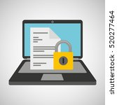 document data protection cyber... | Shutterstock .eps vector #520277464