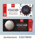 black friday voucher card... | Shutterstock .eps vector #520278850