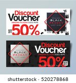 black friday voucher card... | Shutterstock .eps vector #520278868