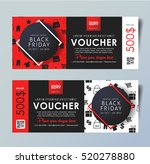 black friday voucher card... | Shutterstock .eps vector #520278880