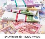 Euro Banknotes. Many Euro...