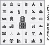 architecture icons universal... | Shutterstock .eps vector #520281958