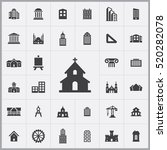 church icon. architecture icons ... | Shutterstock .eps vector #520282078