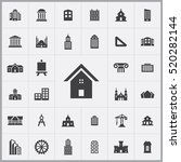 architecture icons universal... | Shutterstock .eps vector #520282144