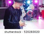 portrait juggler magician is...   Shutterstock . vector #520283020