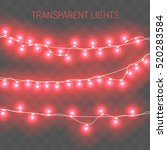 glowing lights for holidays.... | Shutterstock .eps vector #520283584