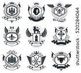 heraldic coat of arms... | Shutterstock .eps vector #520284064