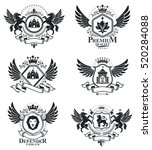 heraldic emblems isolated... | Shutterstock .eps vector #520284088