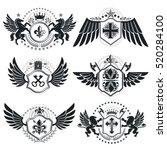 heraldic coat of arms  vintage... | Shutterstock .eps vector #520284100