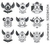 vector emblems  vintage... | Shutterstock .eps vector #520284154