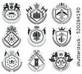 old style heraldry  heraldic... | Shutterstock .eps vector #520284190