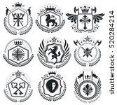old style heraldry  heraldic... | Shutterstock .eps vector #520284214