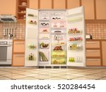interior of the kitchen with... | Shutterstock . vector #520284454