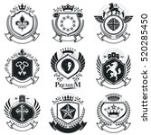heraldic emblems isolated... | Shutterstock .eps vector #520285450