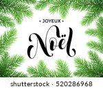 french merry christmas joyeux... | Shutterstock .eps vector #520286968