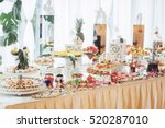 banquet table full of fruits... | Shutterstock . vector #520287010