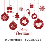 set of hanging christmas... | Shutterstock .eps vector #520287196