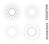 halftone effect vector... | Shutterstock .eps vector #520287598