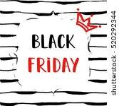 black friday sale poster on... | Shutterstock .eps vector #520292344