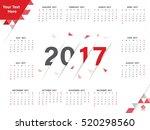 calendar for 2017 poster... | Shutterstock .eps vector #520298560