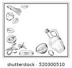 organic cosmetics sketch.... | Shutterstock .eps vector #520300510