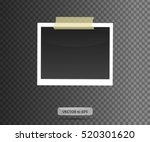 blank photo frame sticked on... | Shutterstock .eps vector #520301620