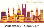 abstract saudi arabia skyline... | Shutterstock .eps vector #520302574