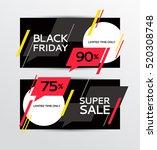 black friday banner. sale.... | Shutterstock .eps vector #520308748