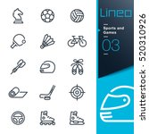 lineo   sports and games line... | Shutterstock .eps vector #520310926