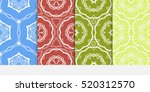 set of floral ornament.... | Shutterstock .eps vector #520312570