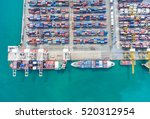 container container ship in... | Shutterstock . vector #520312954