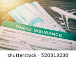 travel agent ticket safe plan... | Shutterstock . vector #520313230