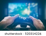 gaming game play tv fun gamer... | Shutterstock . vector #520314226