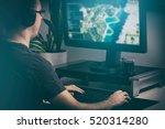 gaming game play tv fun gamer...   Shutterstock . vector #520314280