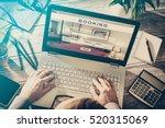 booking hotel travel traveler...   Shutterstock . vector #520315069