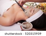 spa therapy for young woman... | Shutterstock . vector #520315939