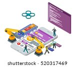 mobile app development ... | Shutterstock . vector #520317469