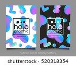 Trendy Two Holographic Neon...