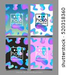 trendy four holographic neon... | Shutterstock .eps vector #520318360