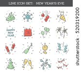 new year's eve icon set  eps10  ... | Shutterstock .eps vector #520319200