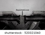 Expectations Typed Words On A...