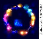 lights festive decorations....   Shutterstock .eps vector #520322308