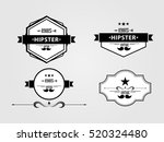 signs  vintage signs on a gray... | Shutterstock .eps vector #520324480